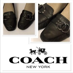 Coach driving shoes loafers flats buckle Sz 6.5